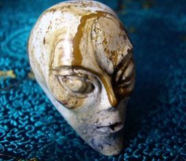 Alien Head Carvings